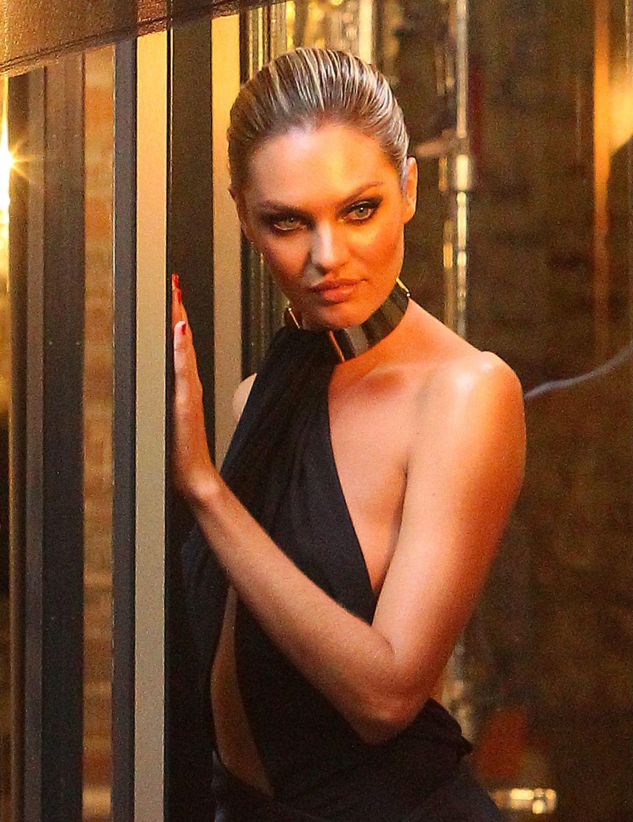Candice Swanepoel in Hot Dress - BTS Photoshoot West Village - NYC, May 2014