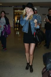 Candice Swanepoel Leggy at LAX Airport - June 2014