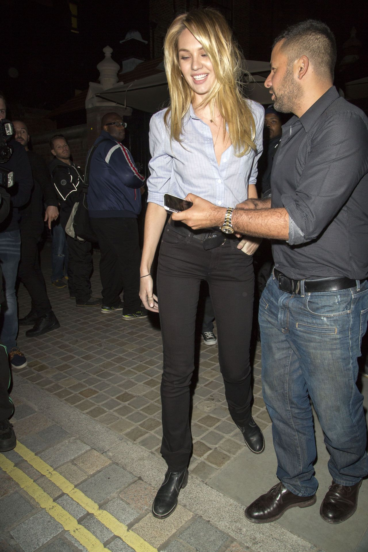 Candice Swanepoel Night Out Style Leaving Chiltern