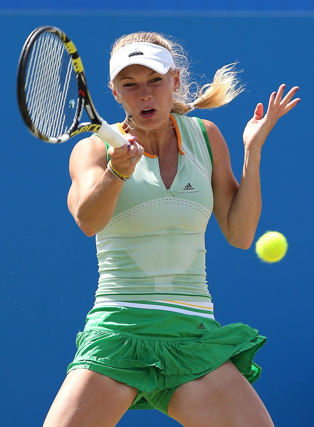 Caroline Wozniacki Aegon International 2014 At