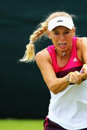 Caroline Wozniacki - Practice Session Ahead of 2014 Wimbledon Championships in London