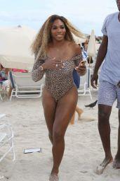 Caroline Wozniacki & Serena Williams in a Bikini and Swimsuit at a Beach in Miami - May 2014