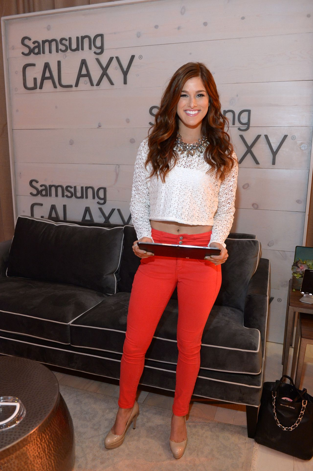 Cassadee Pope in Samsung Galaxy Artist Lounge, 2014 CMA Music Festival in Nashville