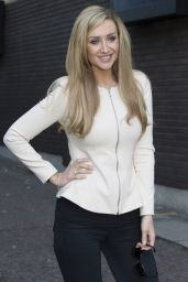 Catherine Tyldesley Casual Style - Leaving the ITV Studios in London - June 2014