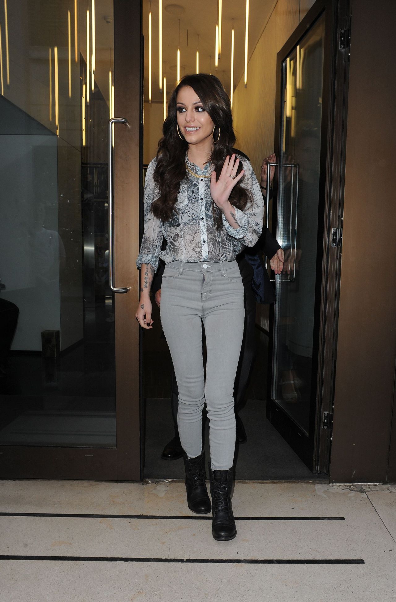 Cher Lloyd Casual Style Leaving The Sony Offices In