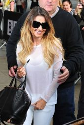 Cheryl Cole Casual Style - at BBC Radio 1 in London - June 2014
