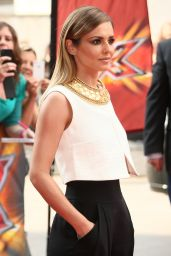 Cheryl Cole in the Monochrome Ensemble Arriving X Factor Auditions in London - June 2014