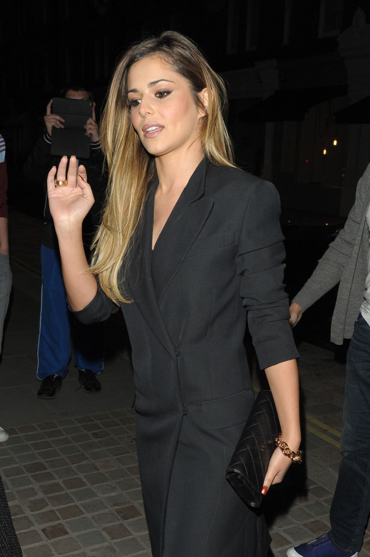 Cheryl Cole night Out Style - Chiltern Firehouse Restaurant in London - May 2014