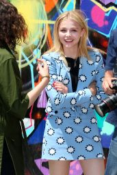 Chloe Moretz in Mini Dress on a Photoshoot in New York City - June 2014
