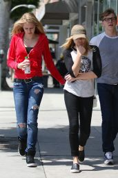 Chloe Moretz & Jaime King Street Style - Out in Beverly Hills - June 2014