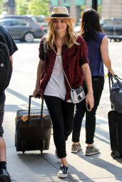 Chloe Moretz Street Style - Arrives at Her Hotel in New York City