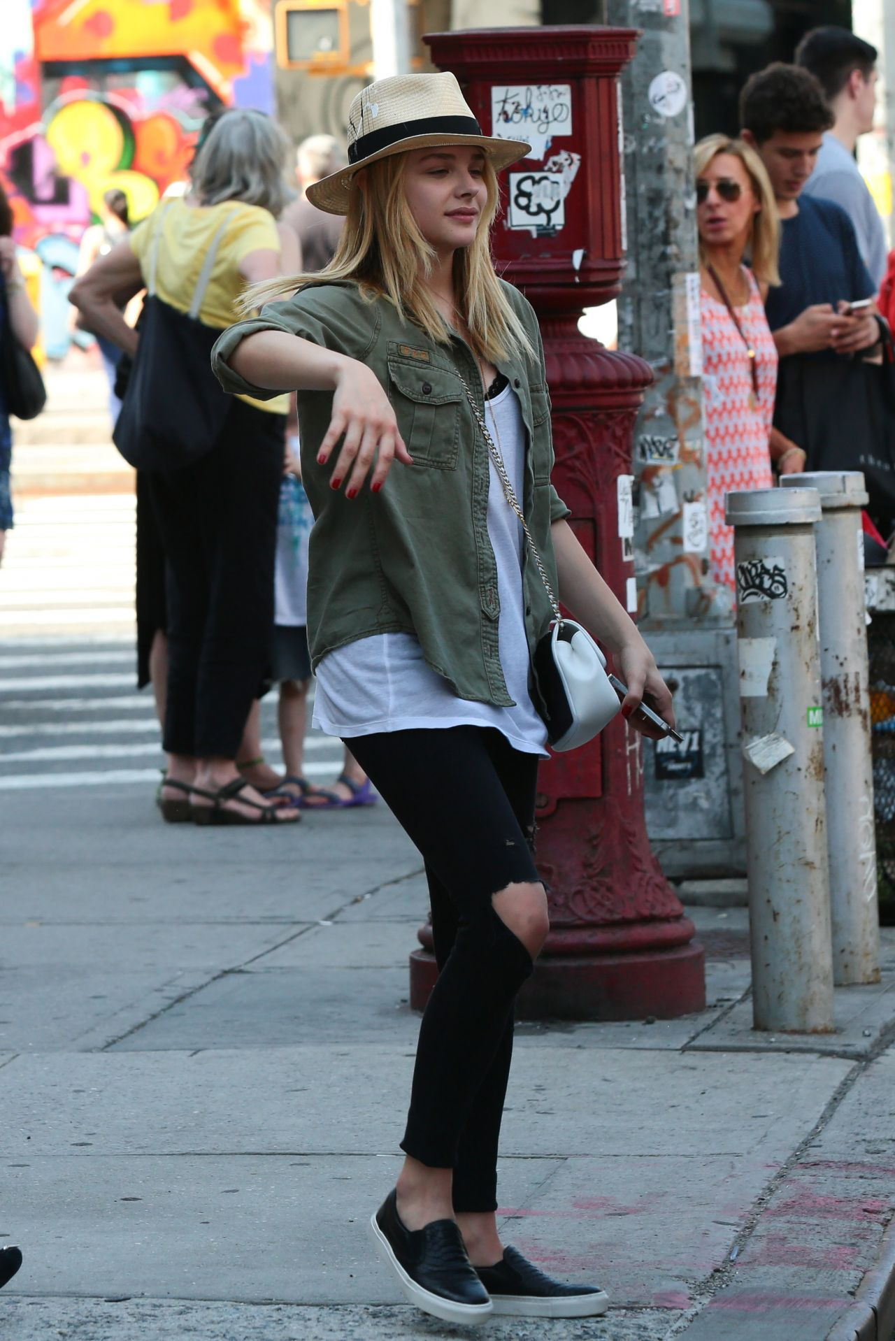 Chloe Moretz Street Style - Out in NYC - June 2014
