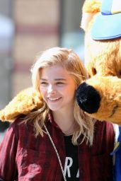 Chloe Moretz Street Style - Out in Toronto, June 2014