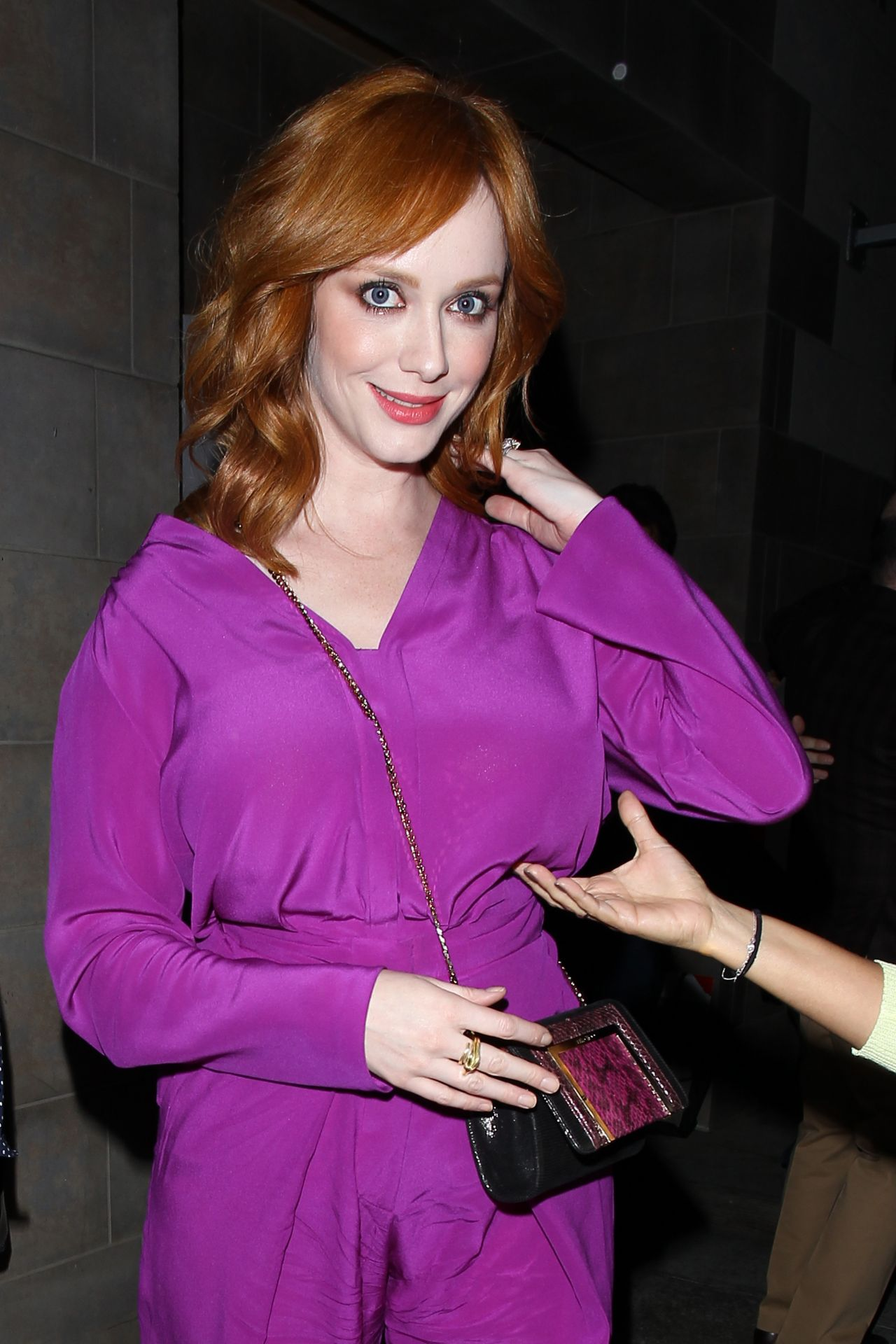 Christina Hendricks Leaving The Landmark Theaters in Los Angeles - June 2014