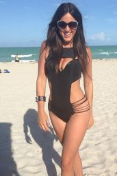 Claudia Romani in Black Monokini in Miami - May 2014