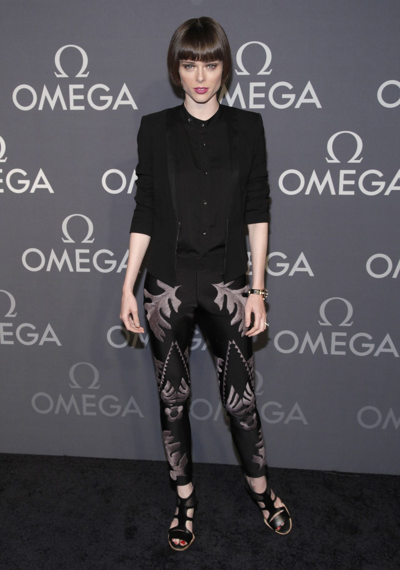 Coco Rocha at OMEGA Speedmaster Dark Side Of The Moon Launch