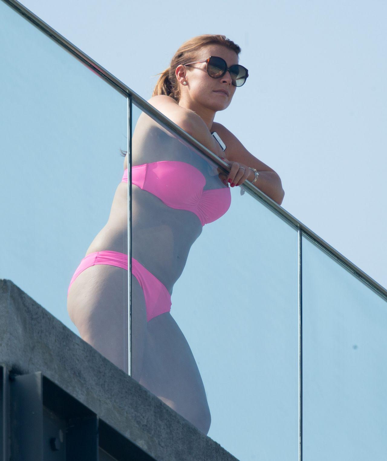 Coleen Rooney Bikini Candids Rio De Janeiro June 2014