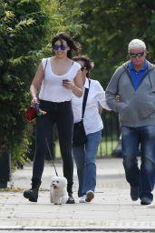 Daisy Lowe Street Style - Walking Her Dog in London - June 2014