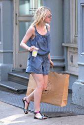 Dakota Fanning Leggy Out in NYC - June 2014