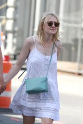 Dakota Fanning Out in New York City - June 2014