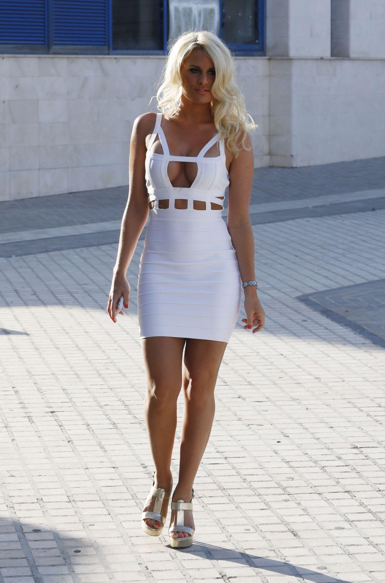 Danielle Armstrong In A Bikini Filming Towie In Marbella