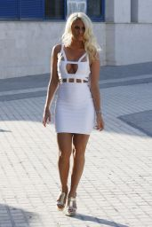 Danielle Armstrong in a Bikini - Filming TOWIE in Marbella (Spain) - June 2014