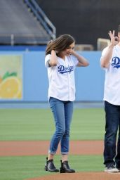 Danielle Fishel, Sabrina Carpenter and Rowan Blanchard – Dodgers Game in Los Angeles - June 2014