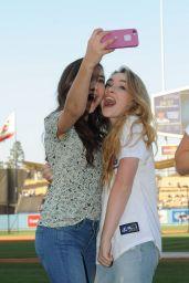Danielle Fishel, Sabrina Carpenter and Rowan Blanchard – Dodgers Game in Los Angeles - June 2014
