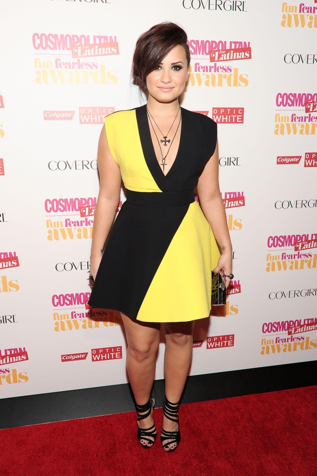 demi lovato cosmopolitan fun fearless latina awards in