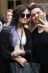 Demi Lovato - Leaving Her Hotel in New York City - June 2014