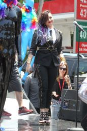 Demi Lovato Performs at the 2014 Pride Parade in West Hollywood