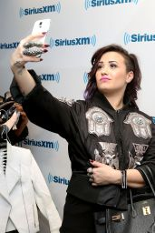Demi Lovato - SiriusXM Studios in New York City - June 2014