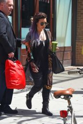 Demi Lovato Street Style - Out in NYC - June 2014