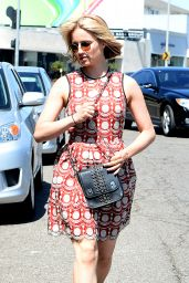 Dianna Agron - Red Sundress Out in Los Angeles - June 2014