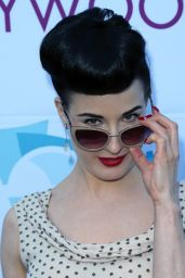 Dita Von Teese Wearing Moschino Gown - Hollywood Bowl Opening Night and Hall of Fame inductions - June 2014