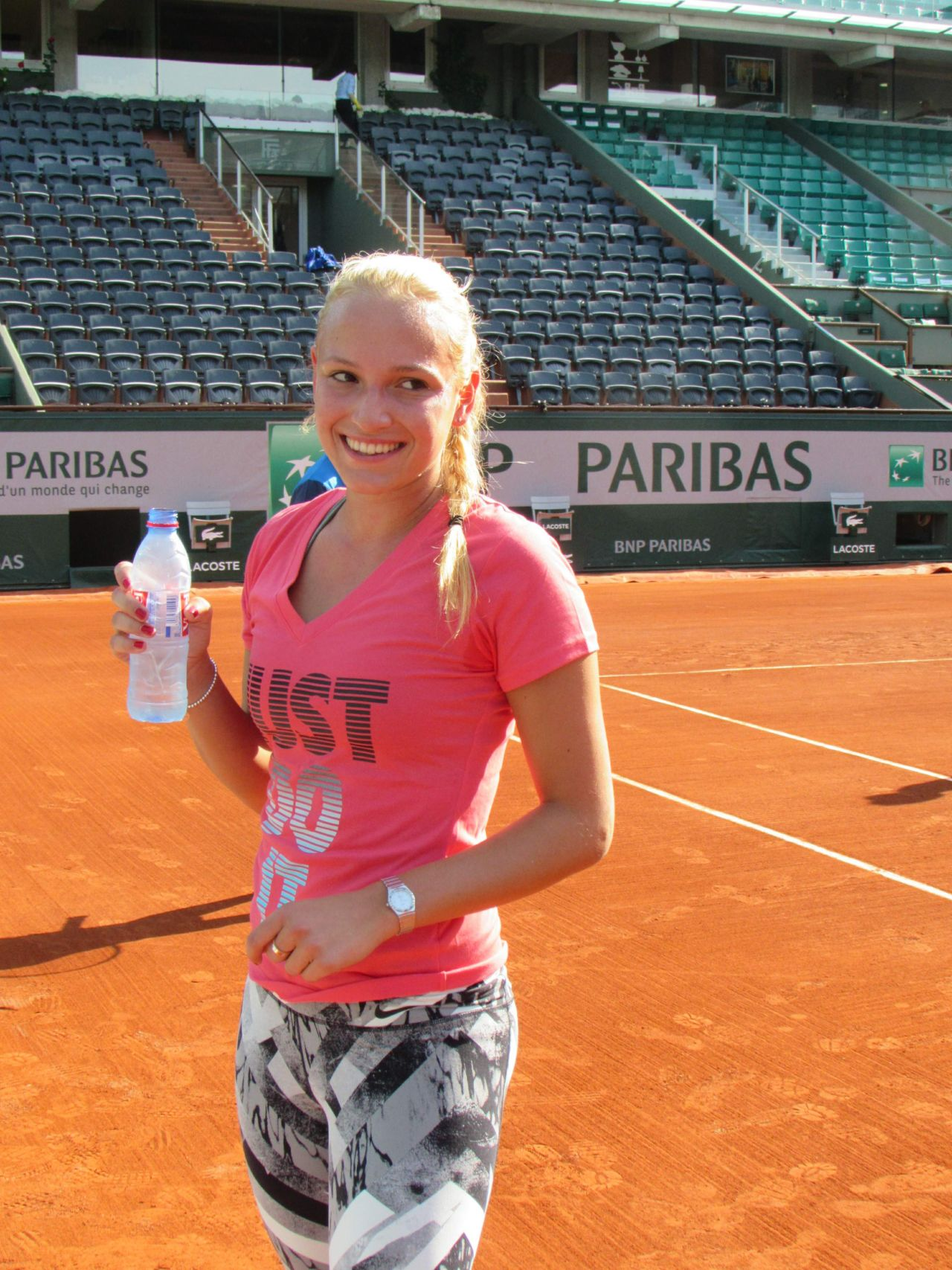 Donna Vekic Training - 2014 French Open at Roland Garros
