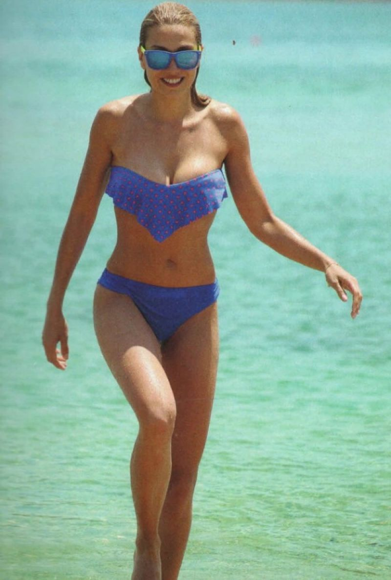 Elena Papabasileiou in a Bikini at the Beach at Grand Resort Lagonissi - Athens Greece May 2014