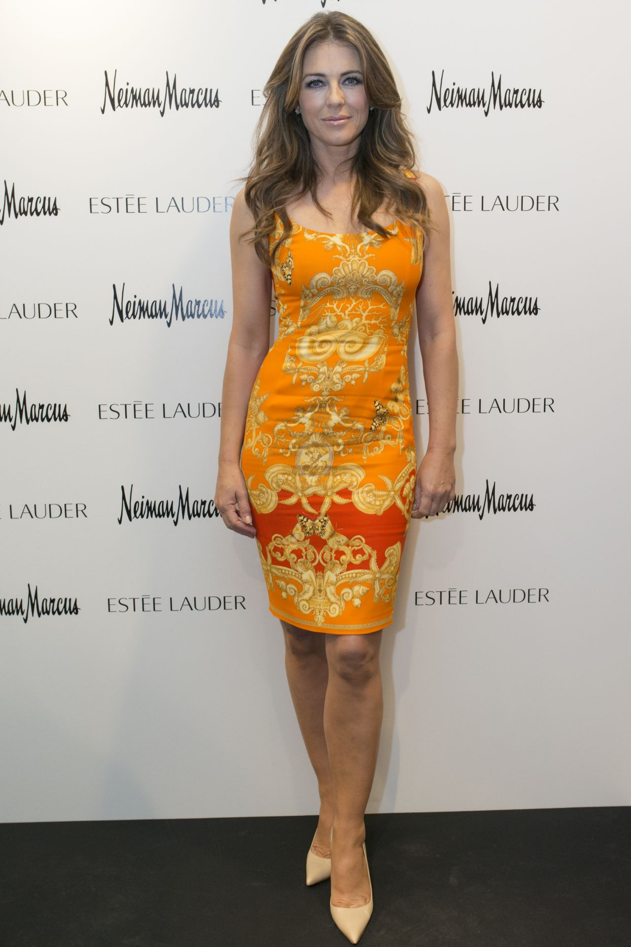 Elizabeth Hurley at Estee Lauder Shop And Compact Museum Opening in Dallas - June 2014