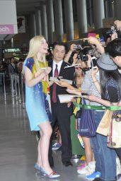 Elle Fanning Arriving at Narita Airport in Tokyo - June 2014