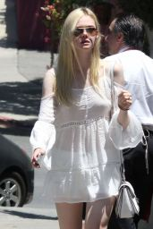 Elle Fanning Street Style - Out in Los Feliz - June 2014
