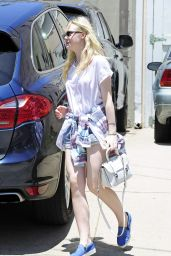 Elle Fanning Street Style - Out in West Hollywood - June 2014