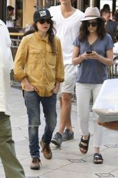 Ellen Page and Her Female Friend out Shopping at The Grove in Los Angeles - June 2014