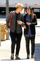 Ellen Page Leaving Hugo's Restaurant in West Hollywood - May 2014