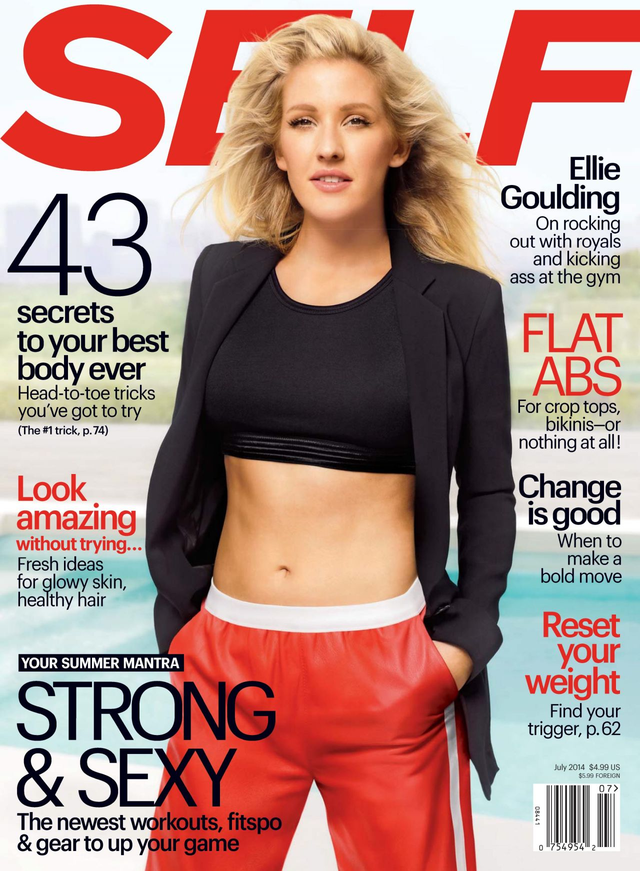 Ellie Goulding - Self Magazine - July 2014 Cover