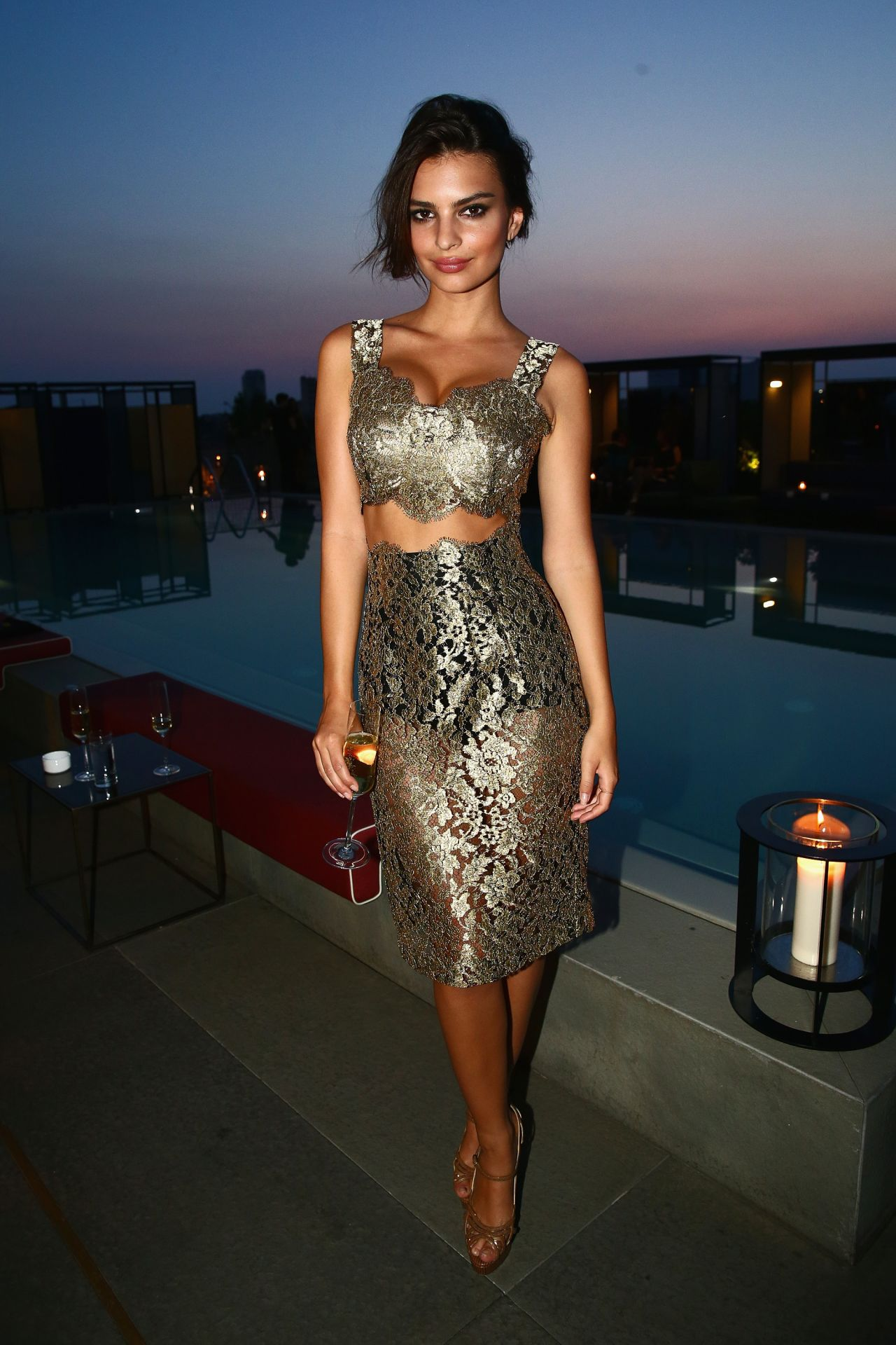 Emily Ratajkowski - GQ Celebrates The Spring 2015 Milan Collection in Milan