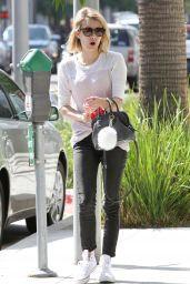 Emma Roberts Street Style - Shopping in West Hollywood - June 2014