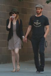 Emma Stone With Boyfriend - Out in New York City - June 2014