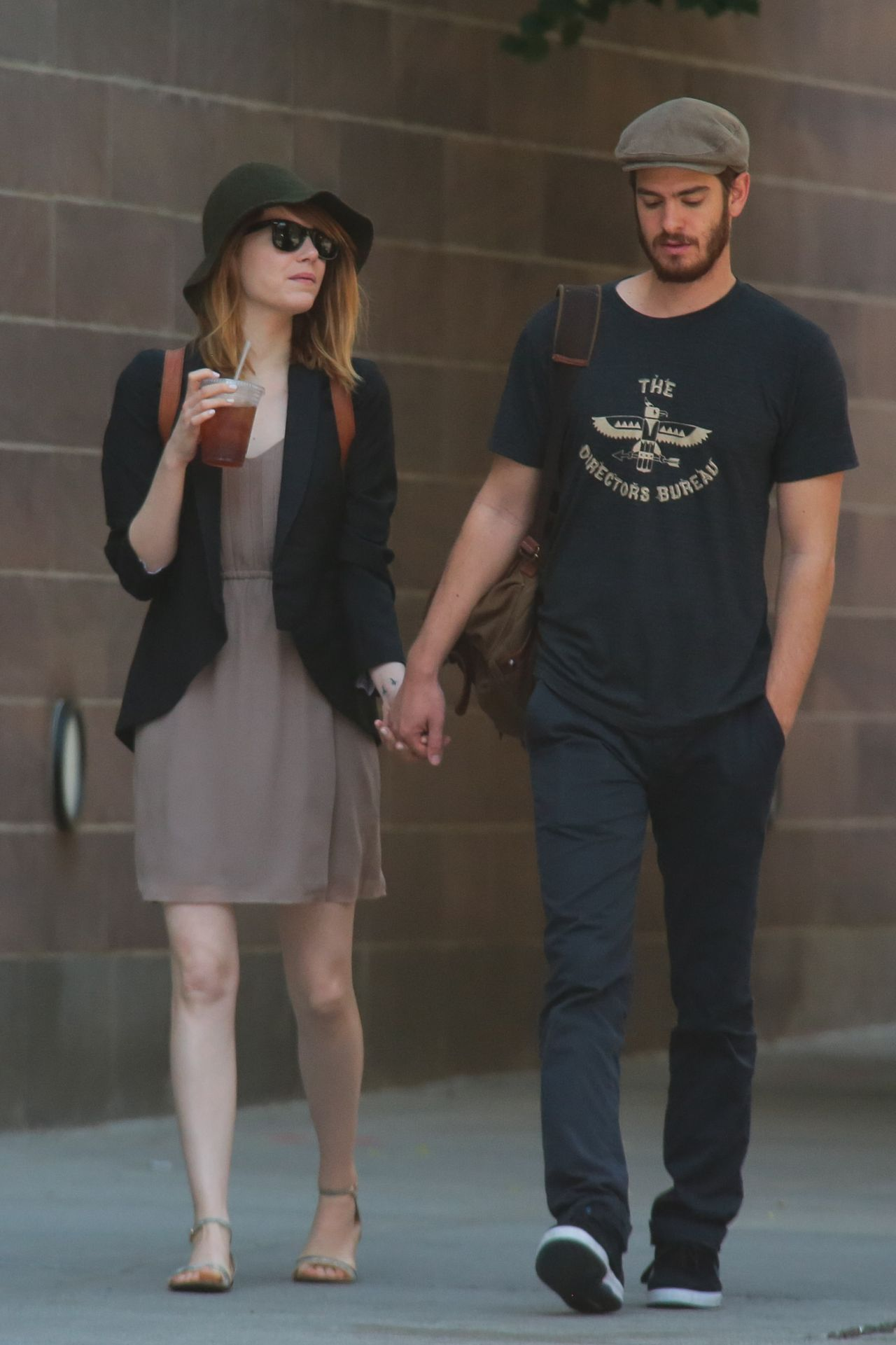 Emma Stone With Boyfriend Out In New York City June 2014