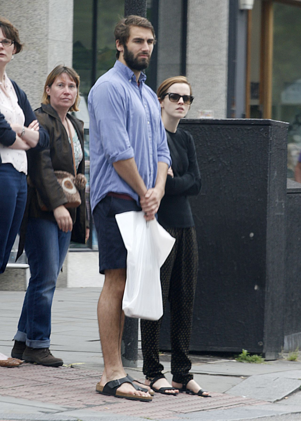 Emma Watson With Boyfriend - Out in London - June 2014