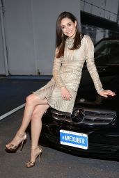 Emmy Rossum at American Express & Uber Mobile Loyalty Program Launch in New York City